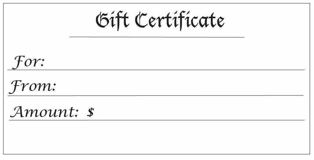 Printable Massage Gift Certificates New 28 Cool Printable Gift Certificates