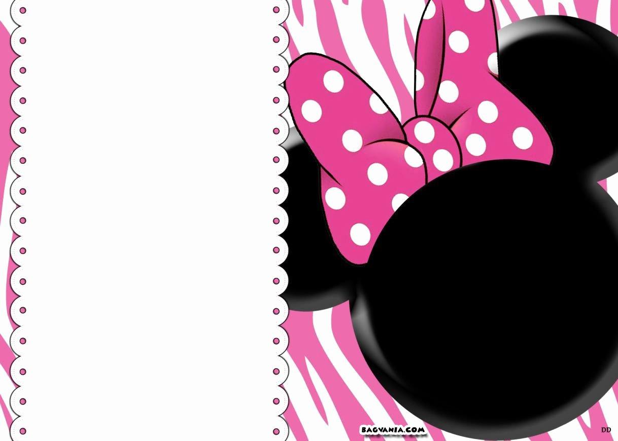 Printable Minnie Mouse Invitations Inspirational Free Printable Minnie Mouse Birthday Invitations – Free