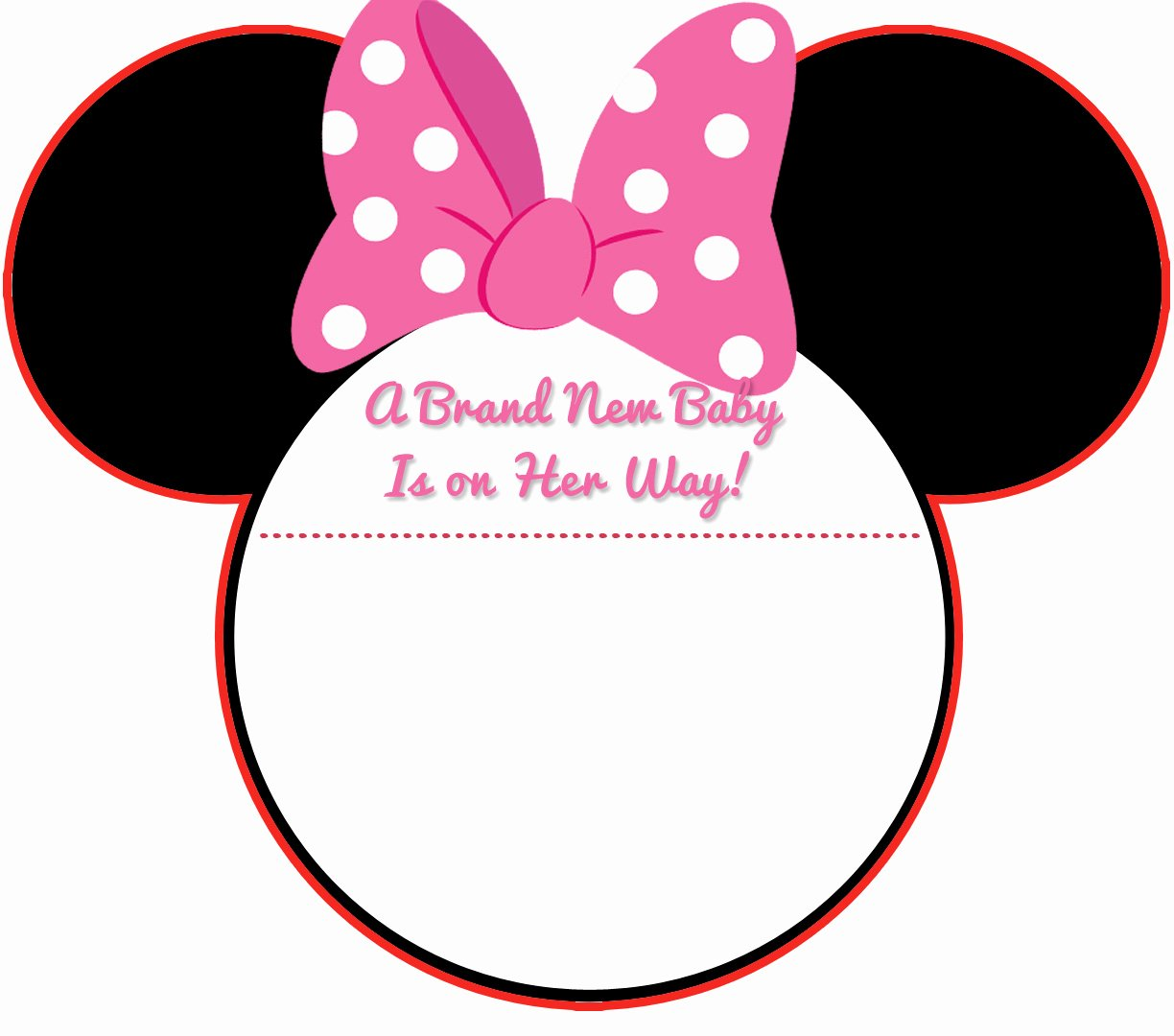 Printable Minnie Mouse Invitations Inspirational New Free Printable Mickey Mouse Baby Shower Invitation