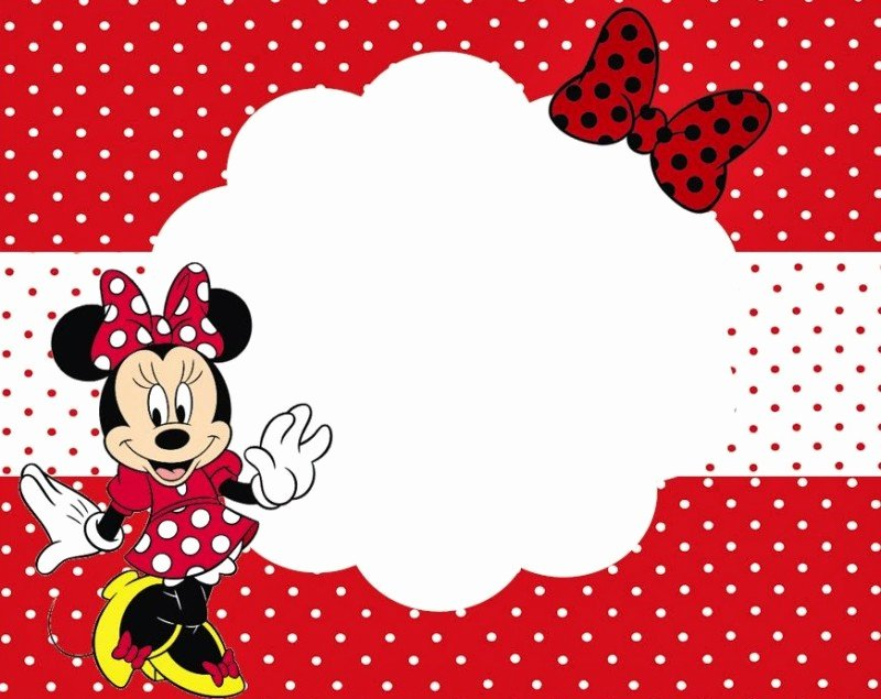 Printable Minnie Mouse Invitations Lovely Minnie Mouse Free Printable Invitation Templates