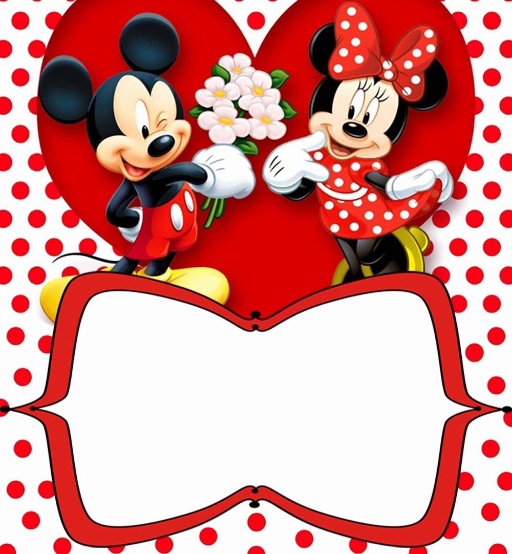 Printable Minnie Mouse Invitations Luxury Mickey Mouse Free Printable Invitation Templates