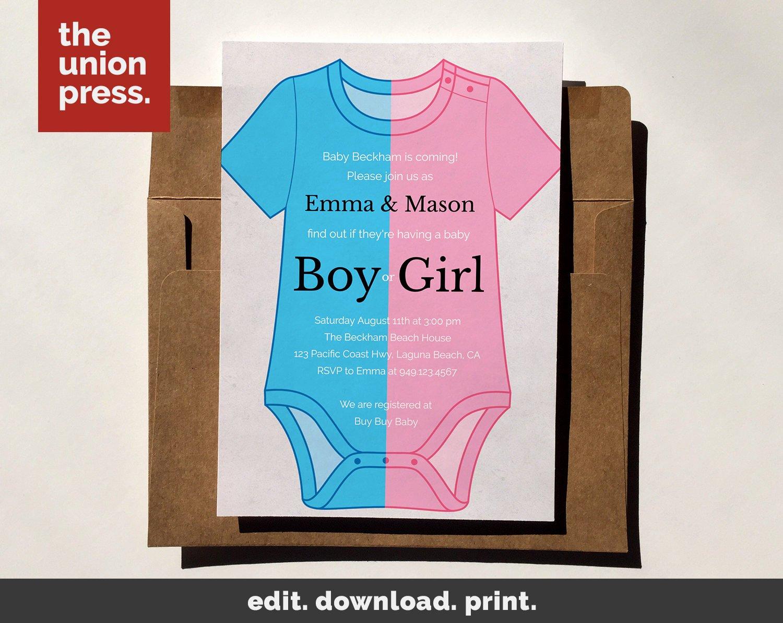Printable Onesie Baby Shower Invitations Awesome Baby Shower Invitation Template Printable Invitation
