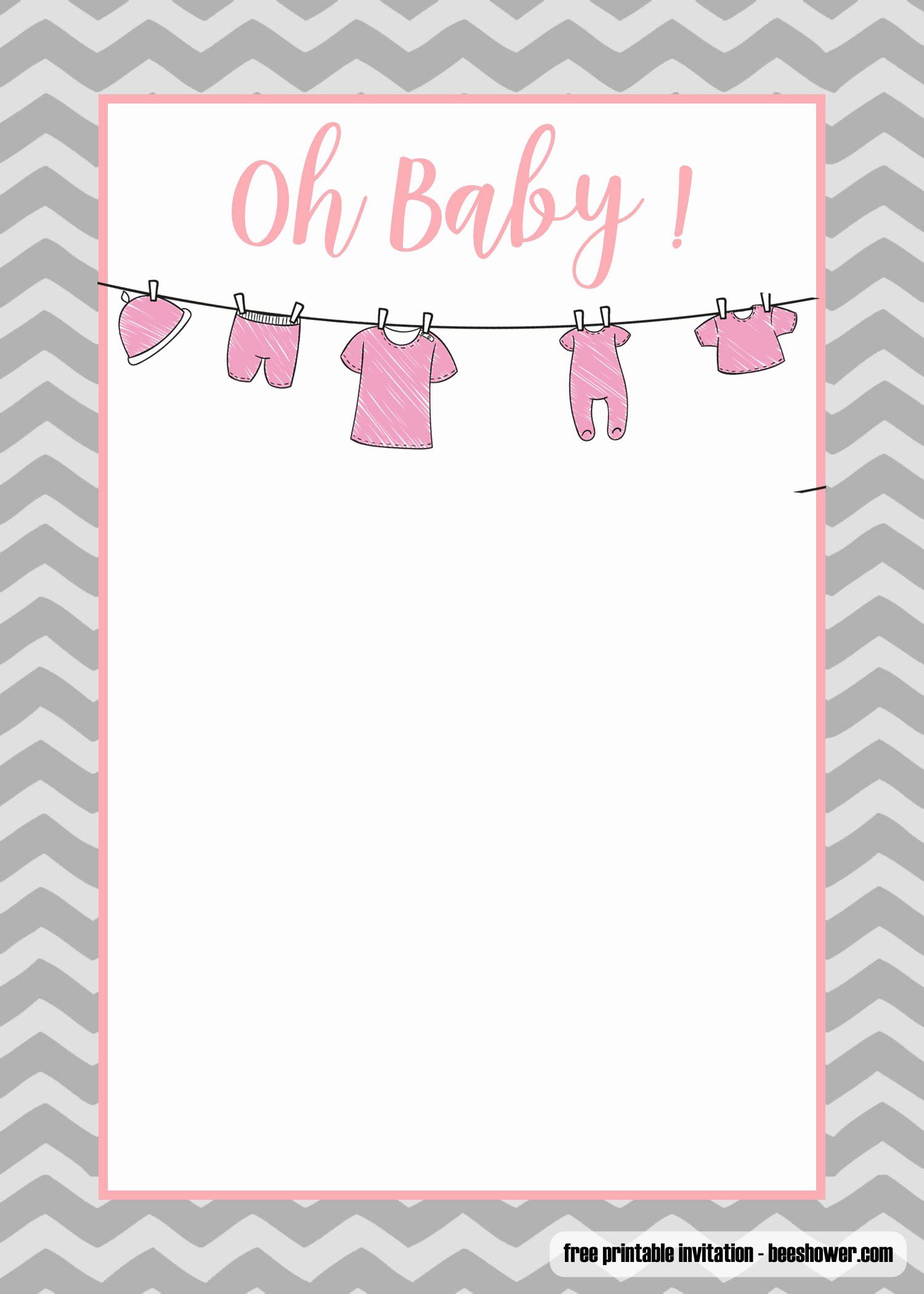 Printable Onesie Baby Shower Invitations Best Of Free Printable Esie Baby Shower Invitations Templates