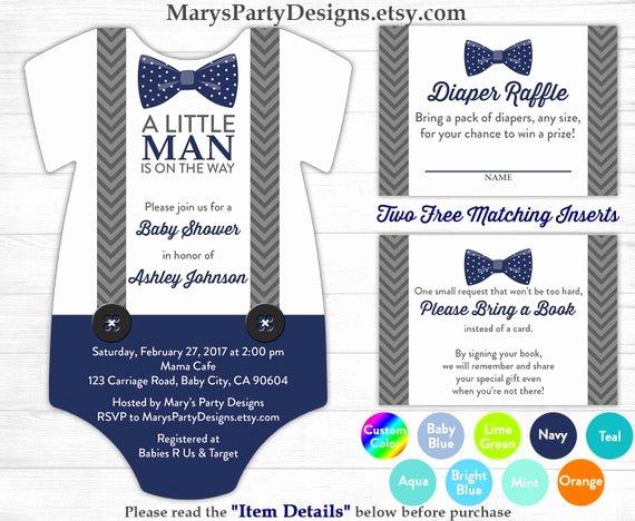 Printable Onesie Baby Shower Invitations Best Of Little Man Baby Shower Esie Invitation Boy Baby Navy Blue