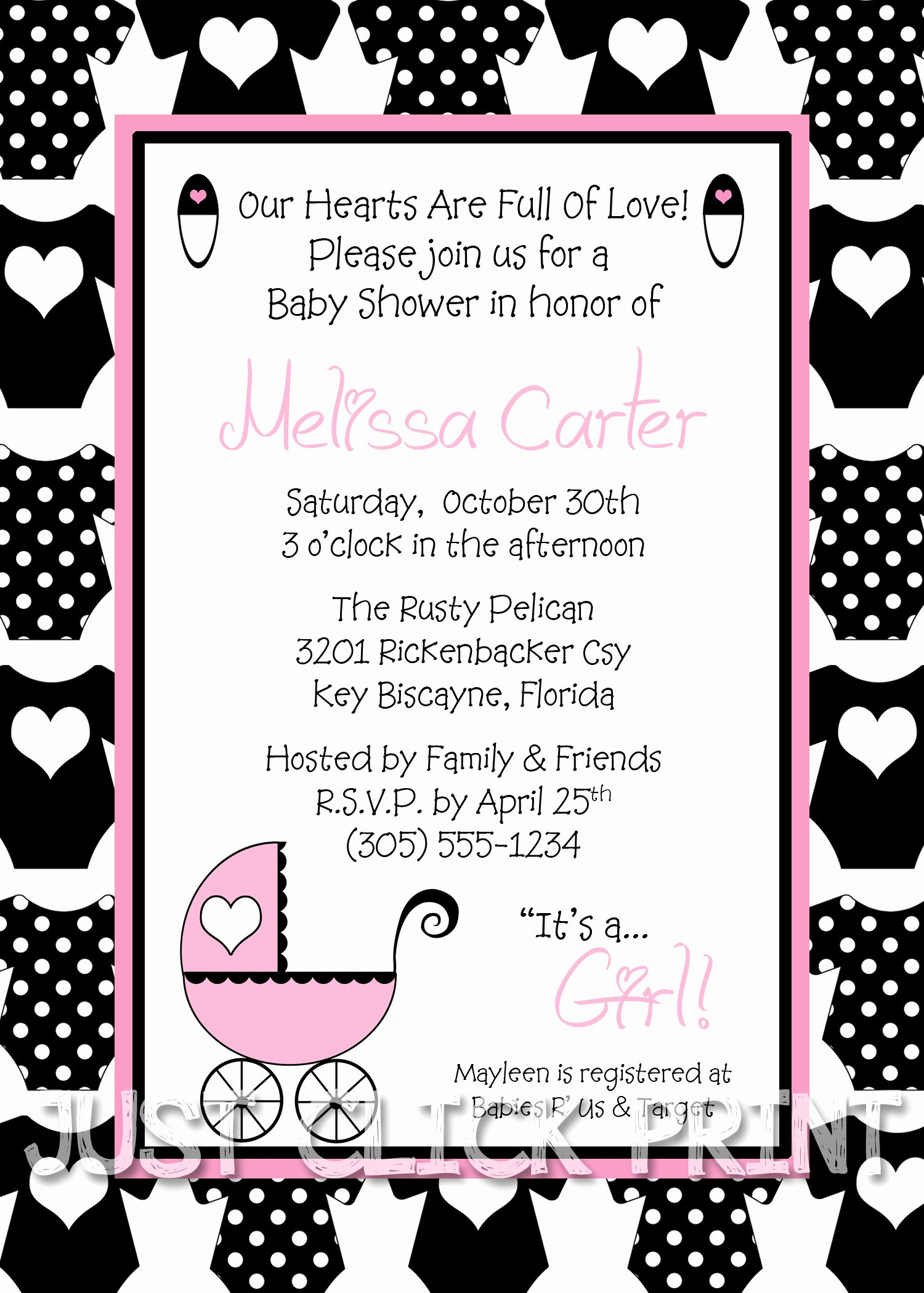 boy or girl onesies baby shower invitation printable