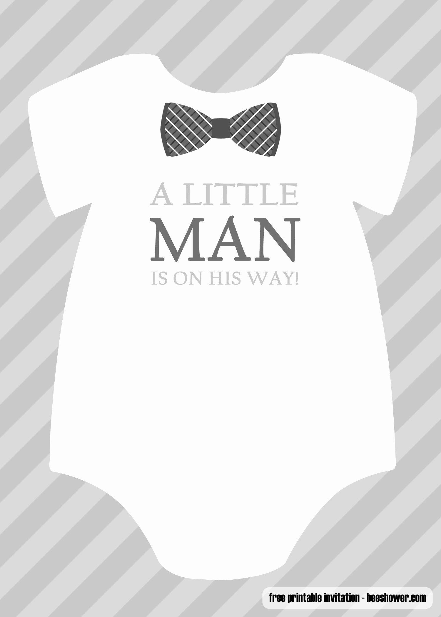 Printable Onesie Baby Shower Invitations Lovely Free Boy Baby Shower Invitations Templates