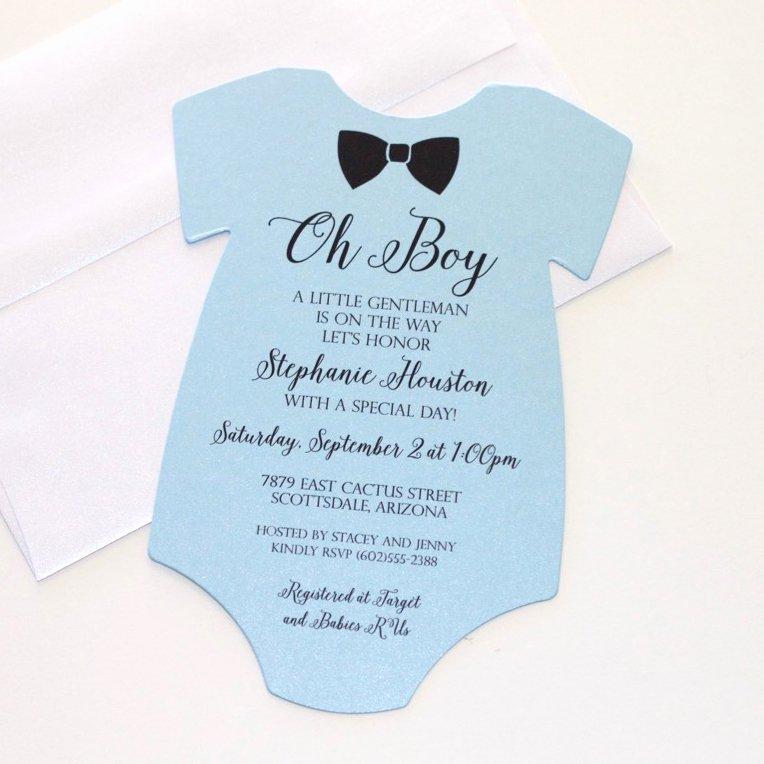 Printable Onesie Baby Shower Invitations Lovely Img 1566