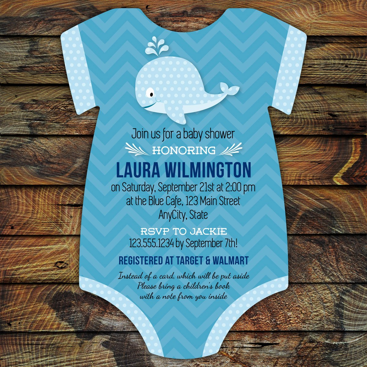 Printable Onesie Baby Shower Invitations New Whale Baby Shower Invitations 10 Bodysuit Cut Printed