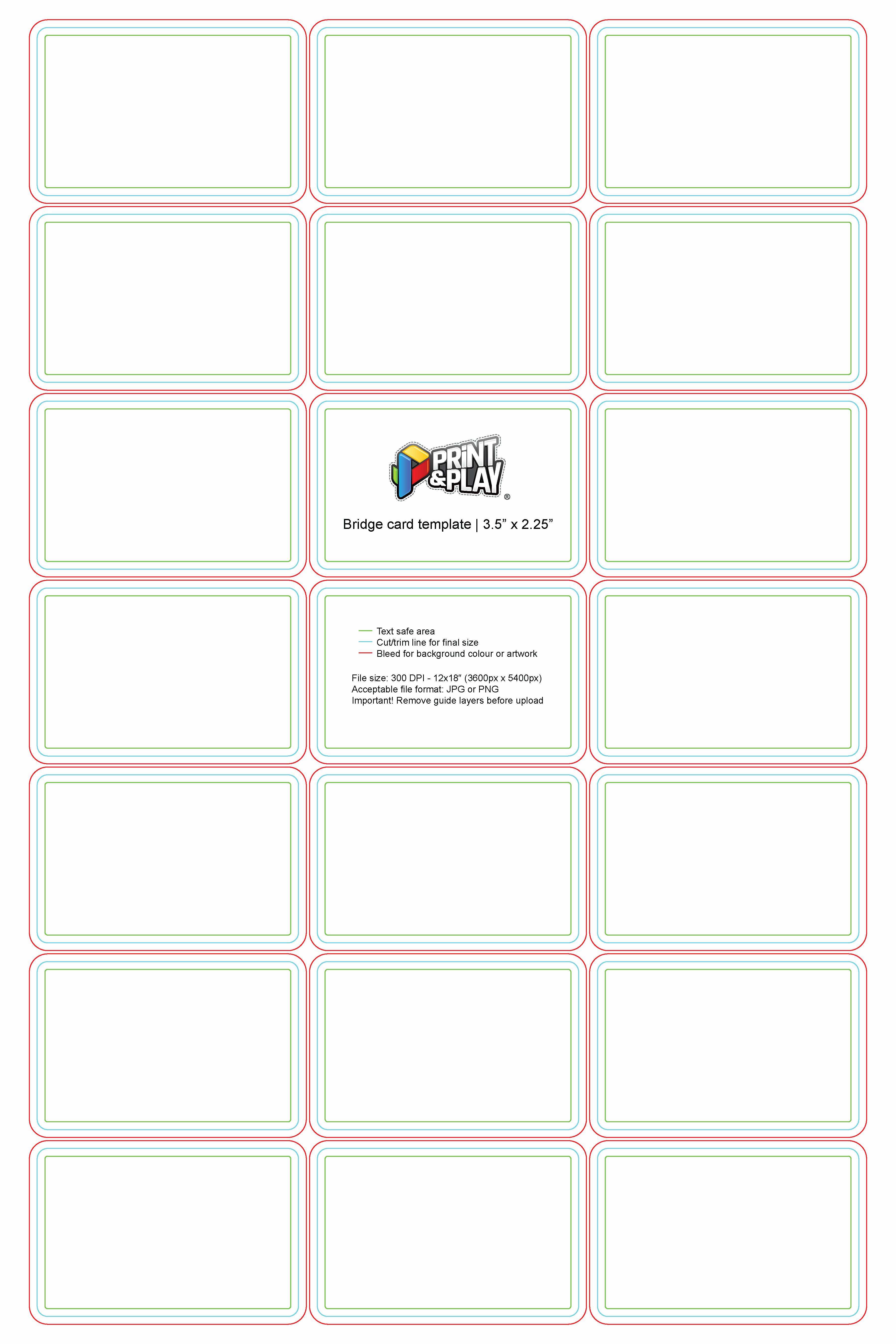 Printable Playing Card Template Beautiful Playing Cards formatting & Templates Print & Play