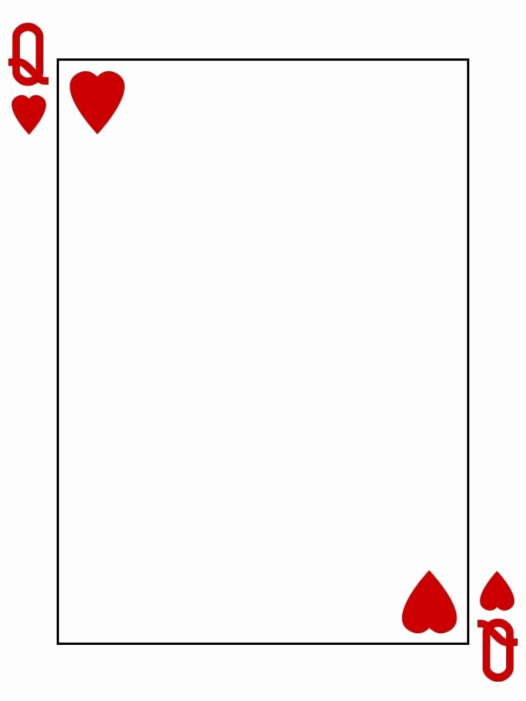 Printable Playing Card Template Lovely Journal Card Queen Hearts Playing Card 3x4 by Pixiesprite Bucket