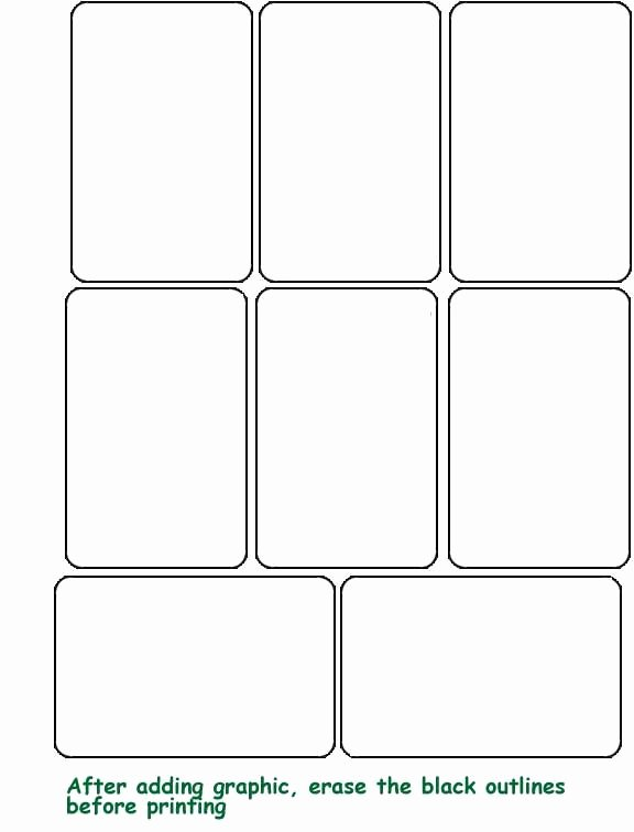 Printable Playing Card Template Unique Blank Template Hrac Karty Projekty Na Vyzkoušen