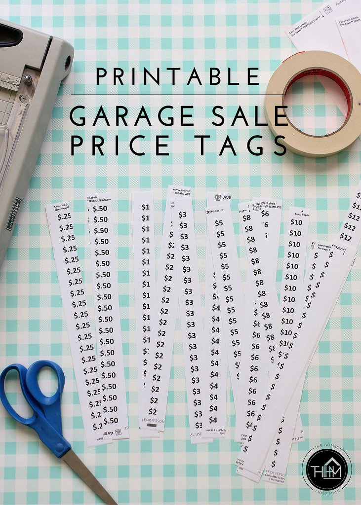 Printable Price Tags Template Unique Printable Garage Sale Price Tags
