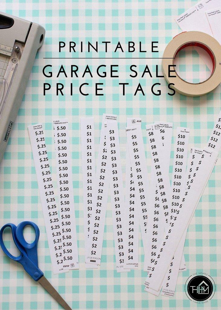 Printable Price Tags Template Unique Printable Garage Sale Price Tags