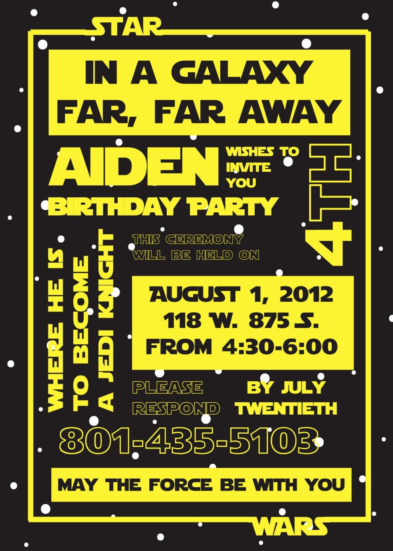 Printable Star Wars Birthday Invitations Awesome Free Star Wars Invitation Templates