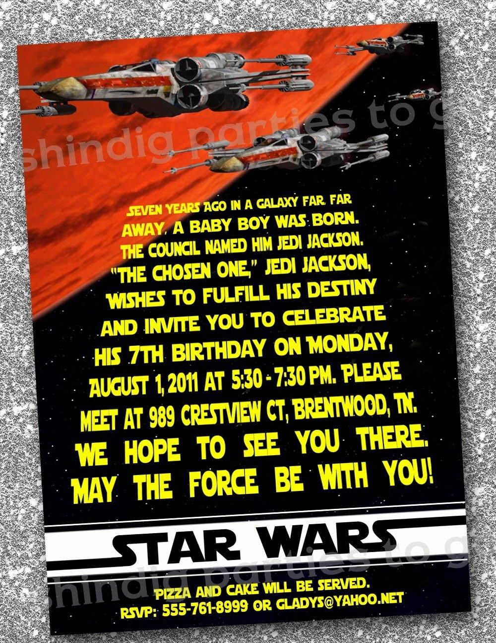 Printable Star Wars Birthday Invitations Beautiful Star Wars Birthday Invitations Templates Free Star Wars Bday
