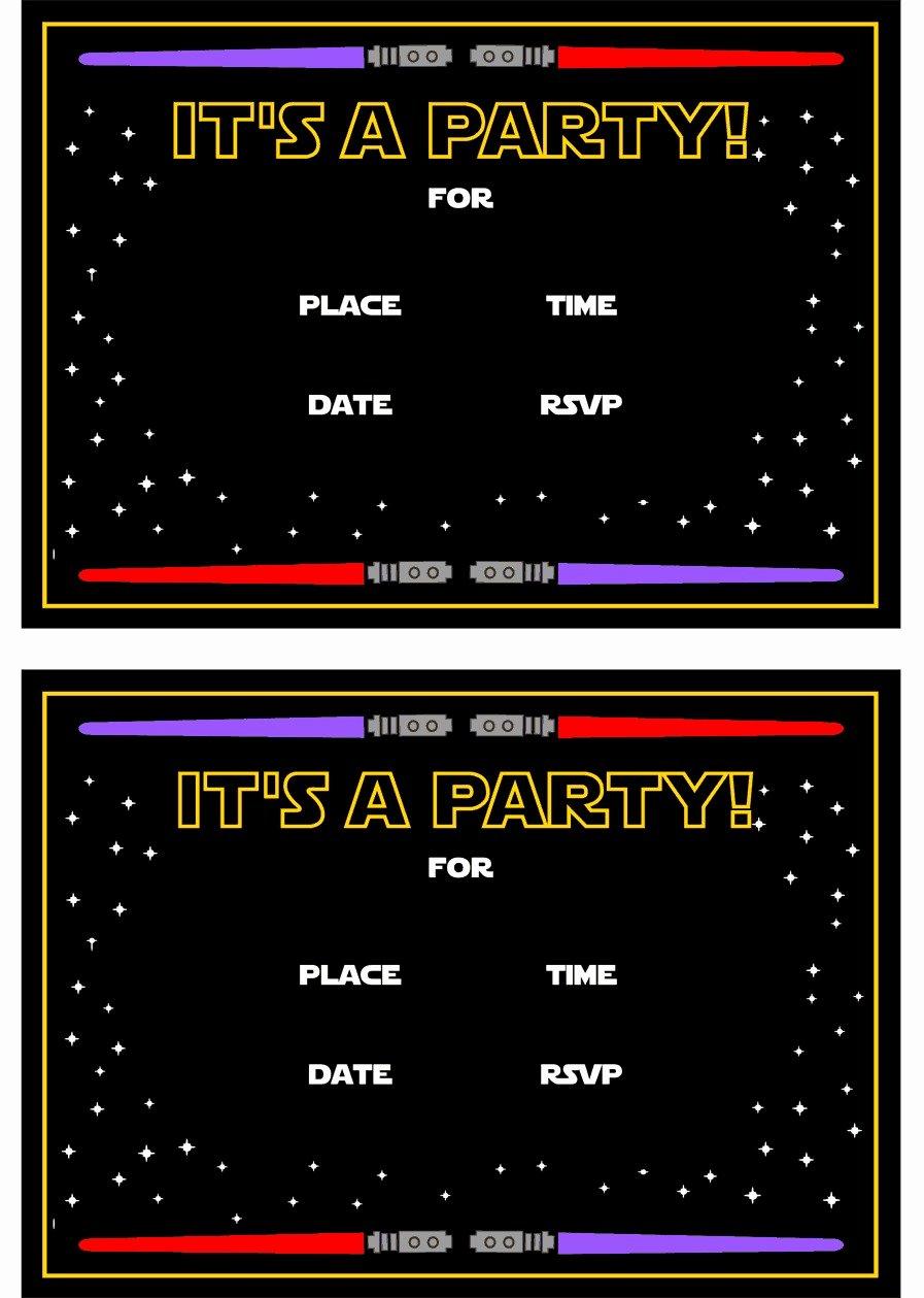 Printable Star Wars Birthday Invitations Fresh Star Wars Free Printables