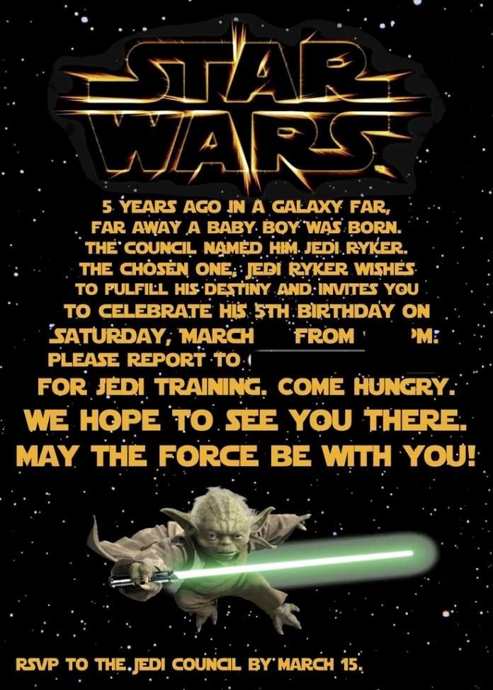 Printable Star Wars Birthday Invitations Inspirational Free Printable Star Wars Birthday Invitations Kids B Day Party Invites In 2019