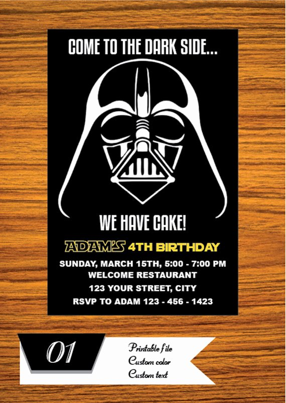 Printable Star Wars Birthday Invitations Inspirational Star Wars Invitation Star Wars Party Invitation Star Wars Birthday Party Invite Star Wars