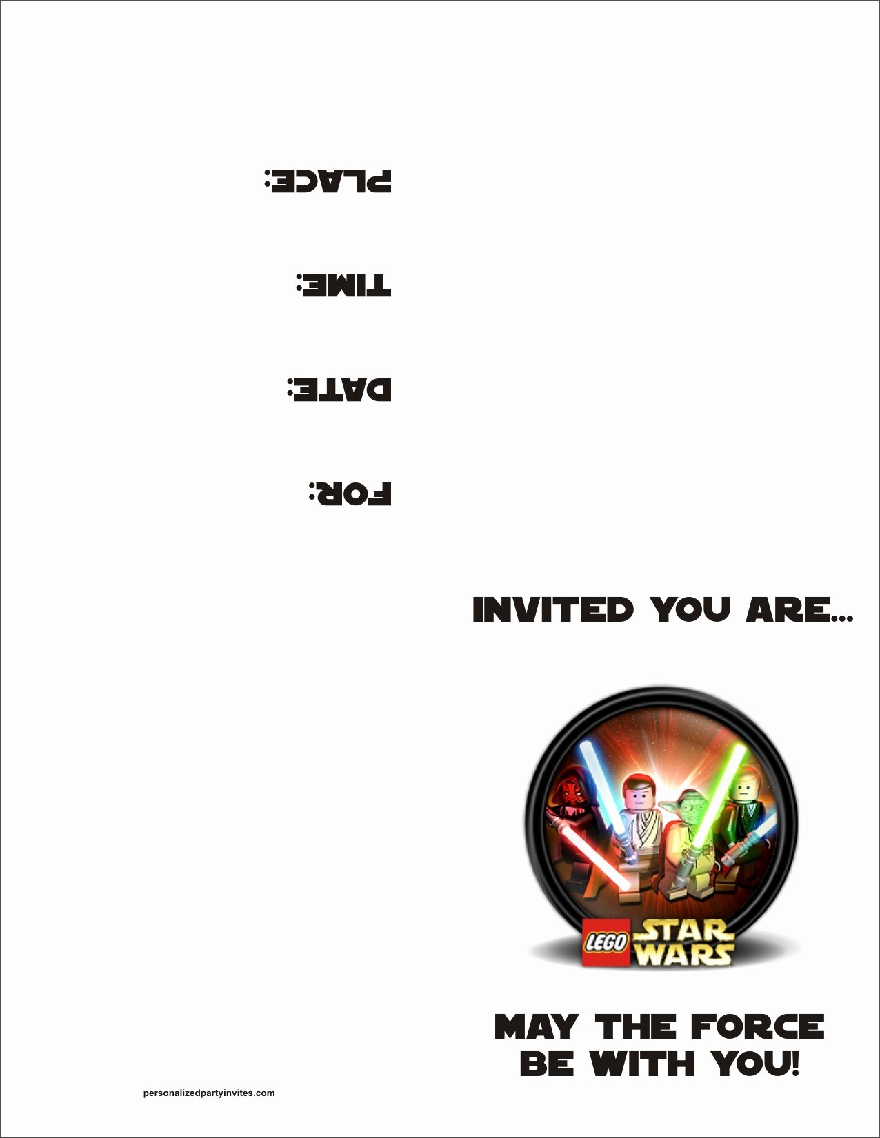 Printable Star Wars Birthday Invitations Lovely Lego Star Wars Free Printable Birthday Party Invitation Personalized Party Invites