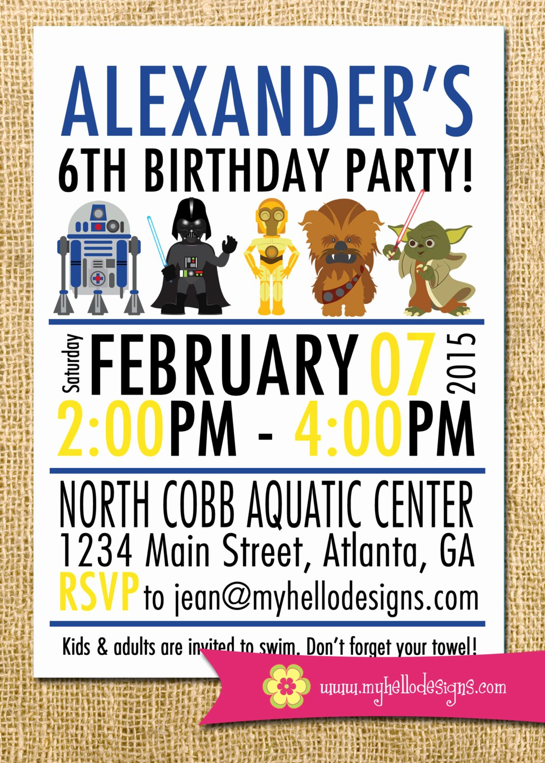 Printable Star Wars Birthday Invitations Lovely Printable Star Wars Inspired Invitation Jedi Invite Diy Boy