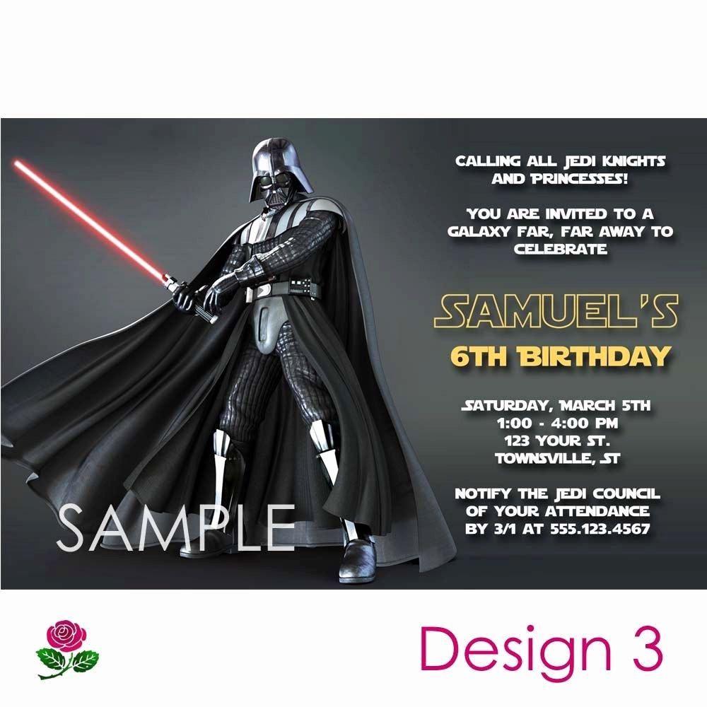 Printable Star Wars Birthday Invitations New Star Wars Invitation Printable Birthday Party You Print Custom Personalized Digital Card