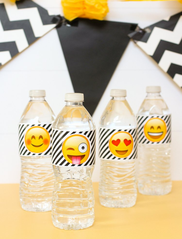 Printable Water Bottle Labels Awesome the Craft Patch Emoji Party Water Bottle Labels