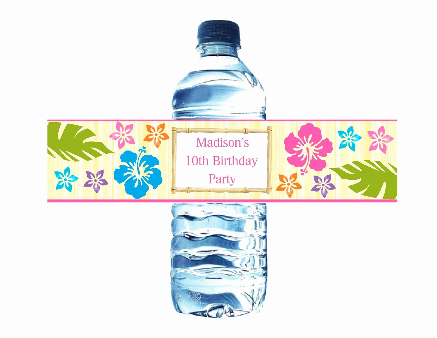 Printable Water Bottle Labels Best Of Printable Luau Hawaiian Water Bottle Labels Digital File $5 00 Via Etsy Luau Party