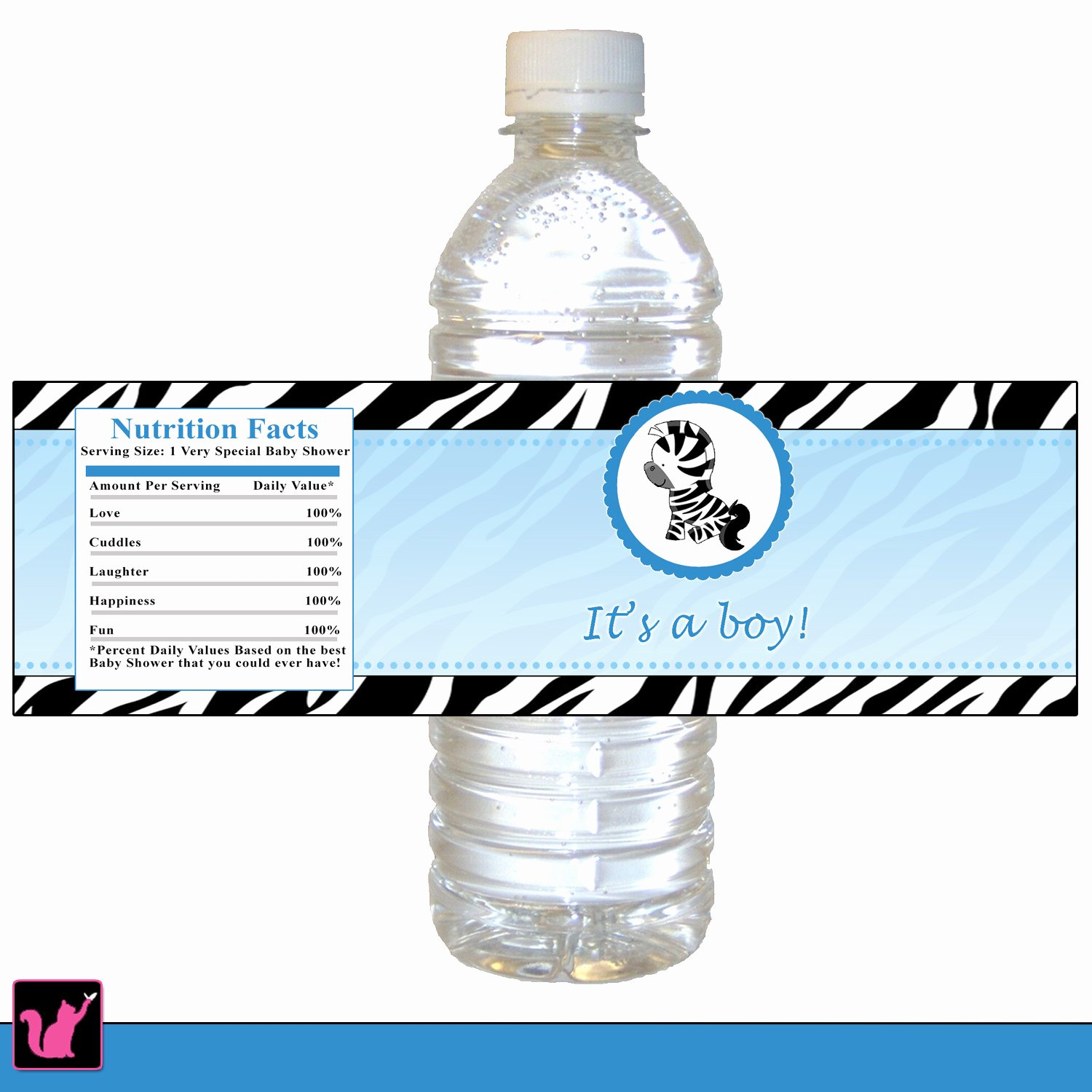 Printable Water Bottle Labels Best Of Zebra Bottle Label Zebra Baby Shower Bottle Label Printable