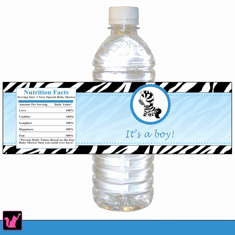 Printable Water Bottle Labels Best Of Zebra Bottle Label Zebra Baby Shower Bottle Label Printable