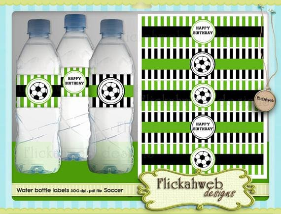 Printable Water Bottle Labels Fresh soccer Water Bottle Labels Printable Digital Instant