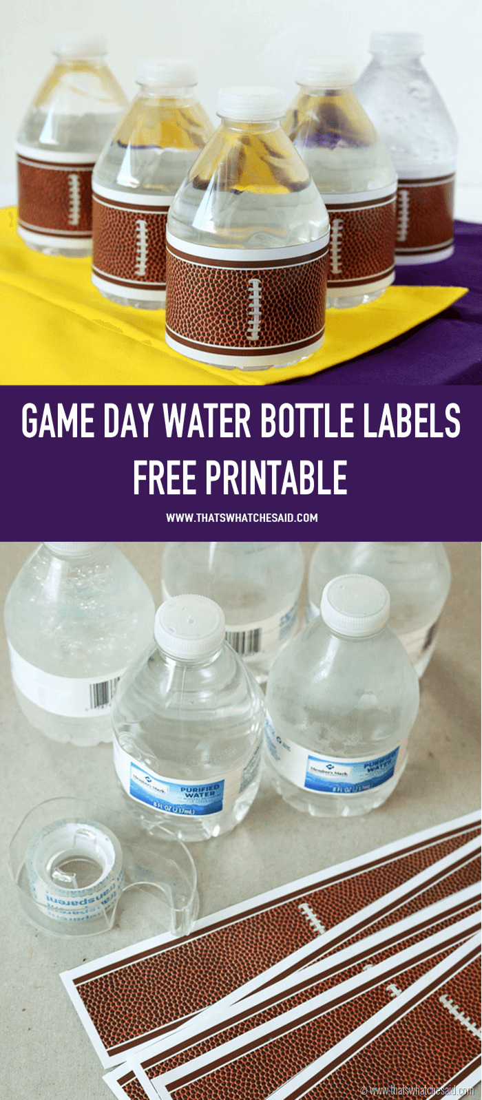 Printable Water Bottle Labels Luxury Football Water Bottle Labels that S What Che Said