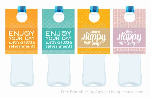 Printable Water Bottle Labels Unique Free Printable Water Bottle Labels
