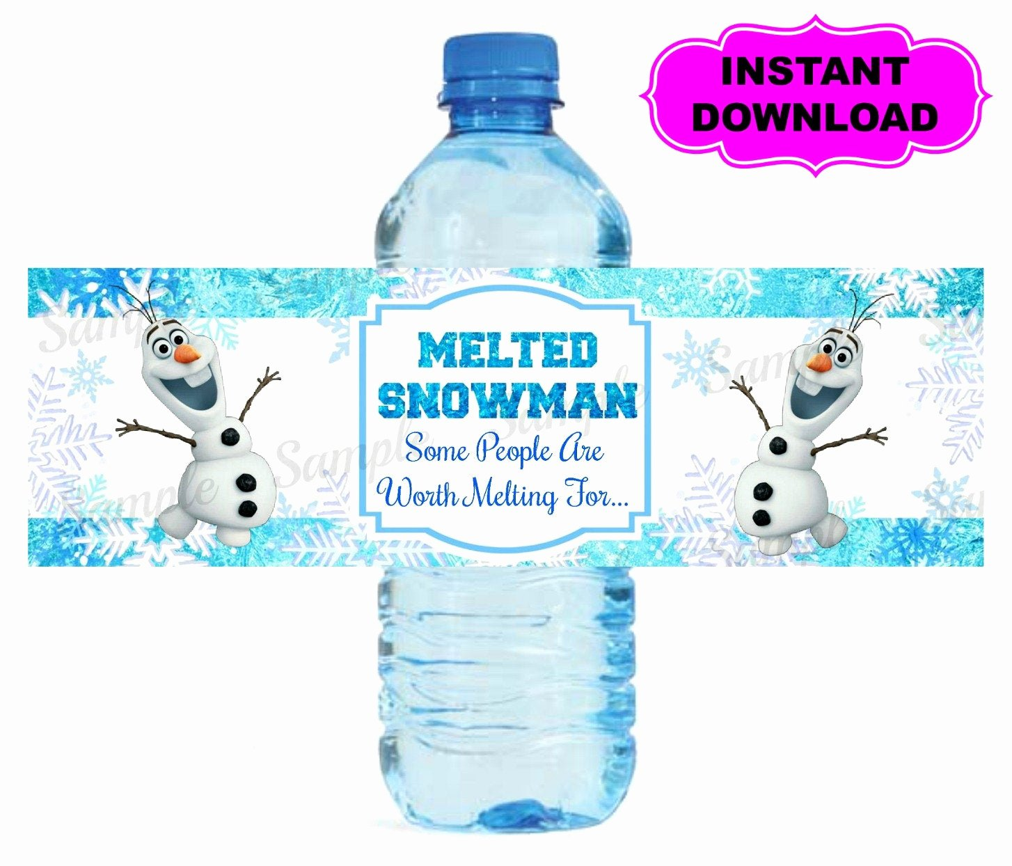Printable Water Bottle Labels Unique Frozen Water Bottle Label Printable Digital by Kidspartypixel