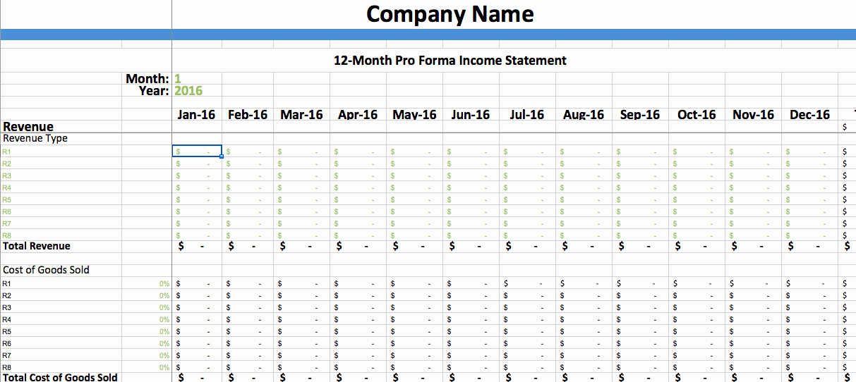 Pro forma Balance Sheet Template Inspirational Pro forma In E Statement Template – Dumbing It Down