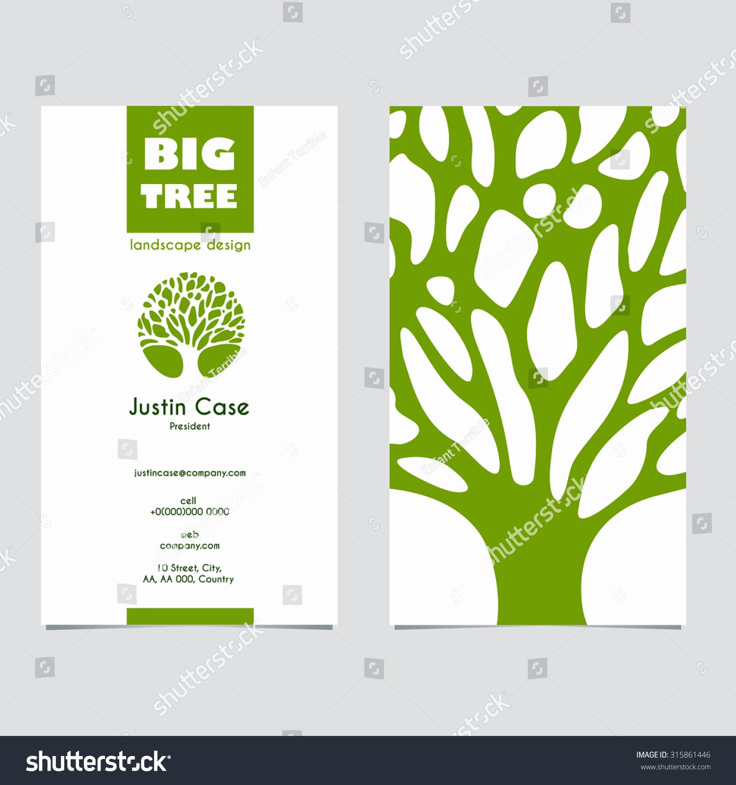 Product Line Card Template Best Of Abstract Tree Sign & Business Card Vector Template Vector Icon & Corporate Identity Template