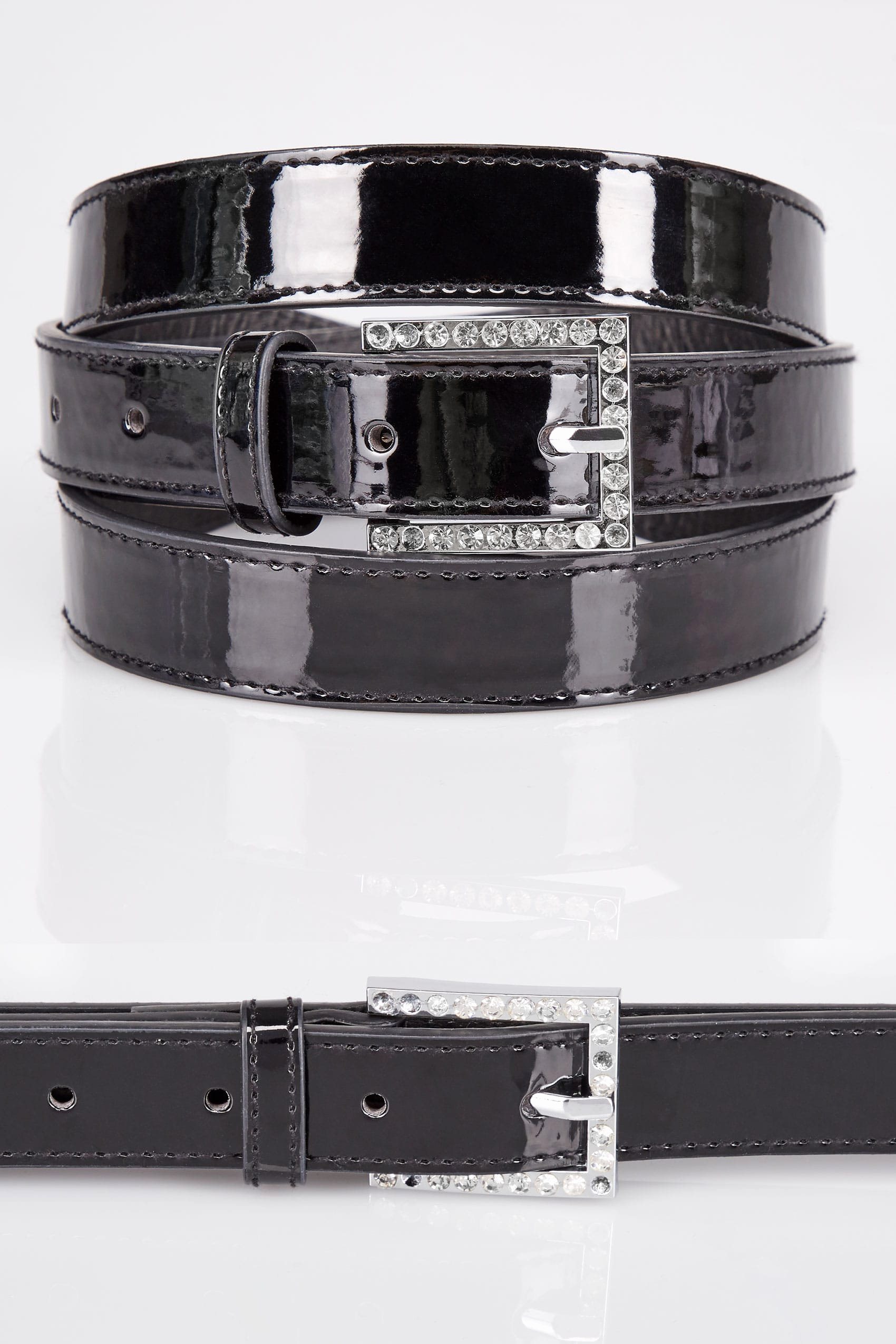 Product Line Card Template Lovely Black Patent Belt with Diamante Details