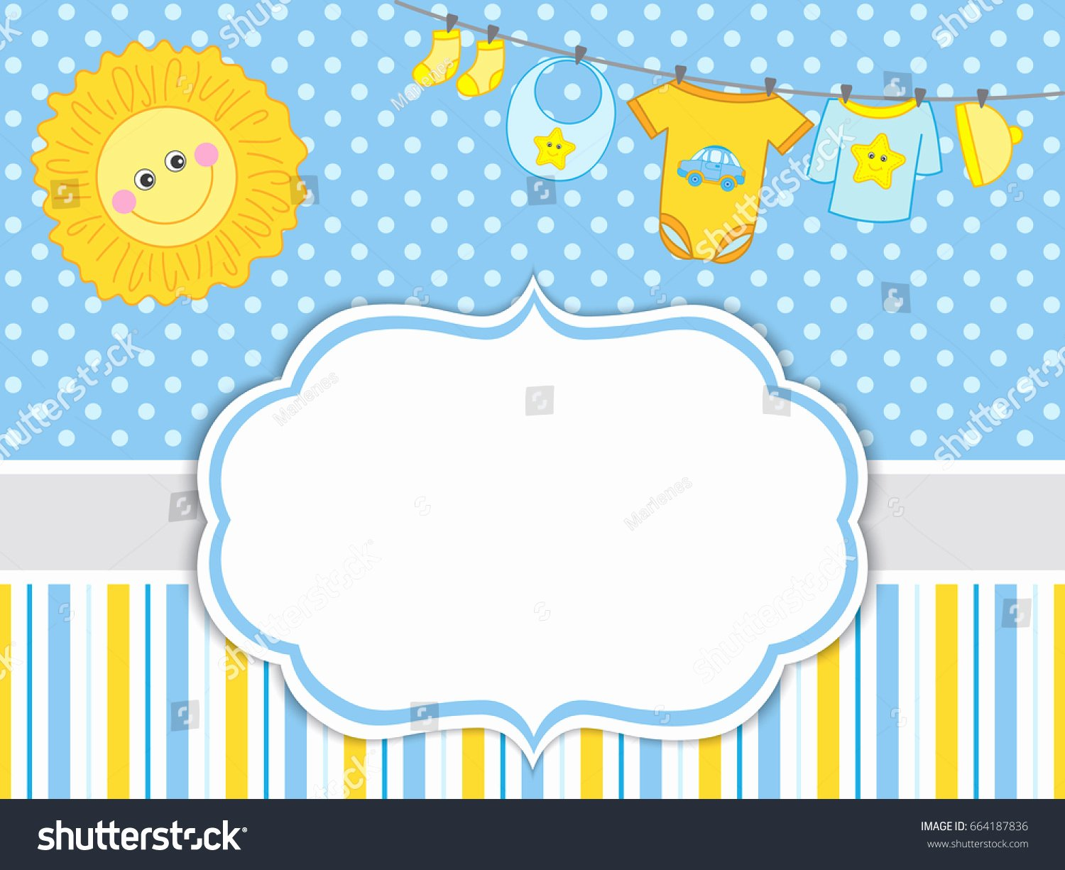 Product Line Card Template New Vector Card Template Baby Boy Clothes Stock Vector Shutterstock