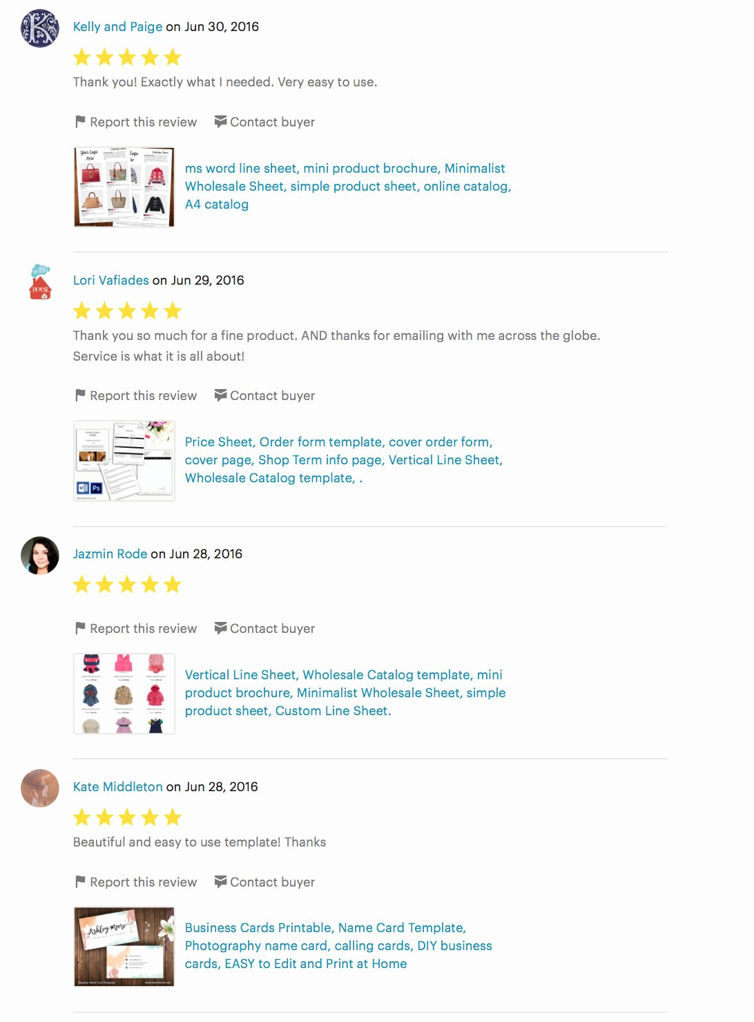 Product Line Card Template Unique Customer Reviews