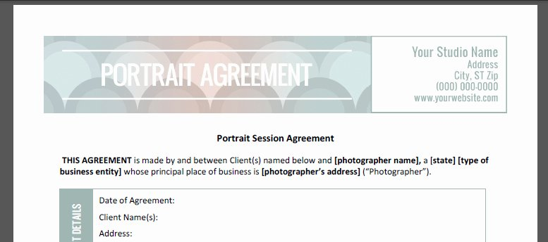 Product Photography Contract Template Fresh Grapher S Contract Kit Plete Bundle the Shoot Space