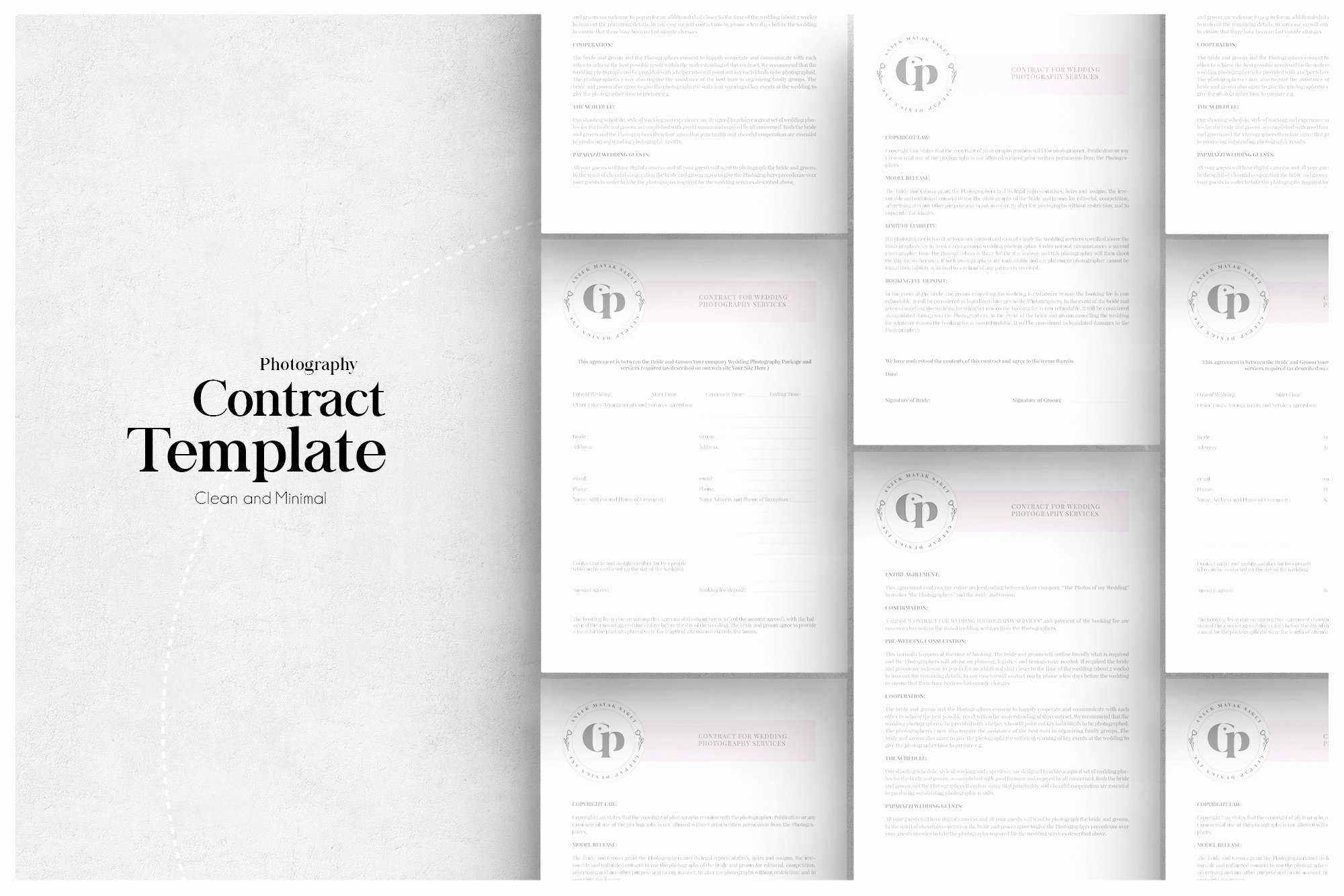 Product Photography Contract Template Inspirational Grapher Contract Stationery Templates Creative Market