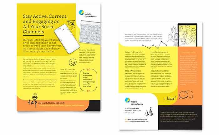 Product Sell Sheet Template Lovely social Media Consultant Datasheet Template Design