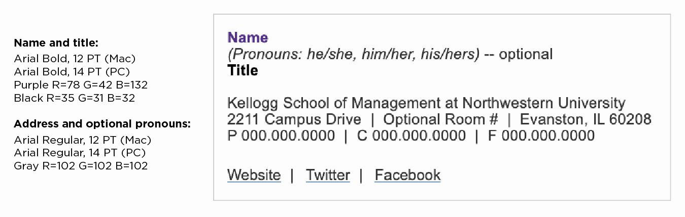 Professional Email Signature College Student Beautiful Kellogg Marketing & Munications