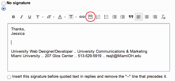 Professional Email Signature College Student Inspirational Add the Miami Logo to Your Email Signature Miami University