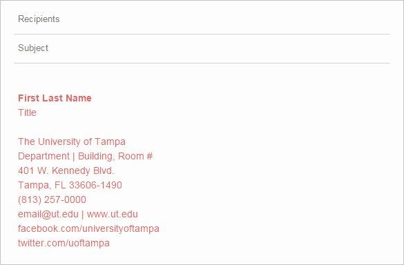 Professional Email Signature College Student Luxury 5 College Student Email Signatures Free Download