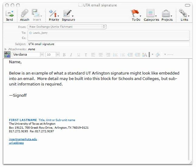 Professional Email Signature College Student Luxury Stationery Uta Identity System