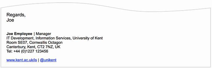 Professional Email Signature College Student Unique Email Signature University Of Kent