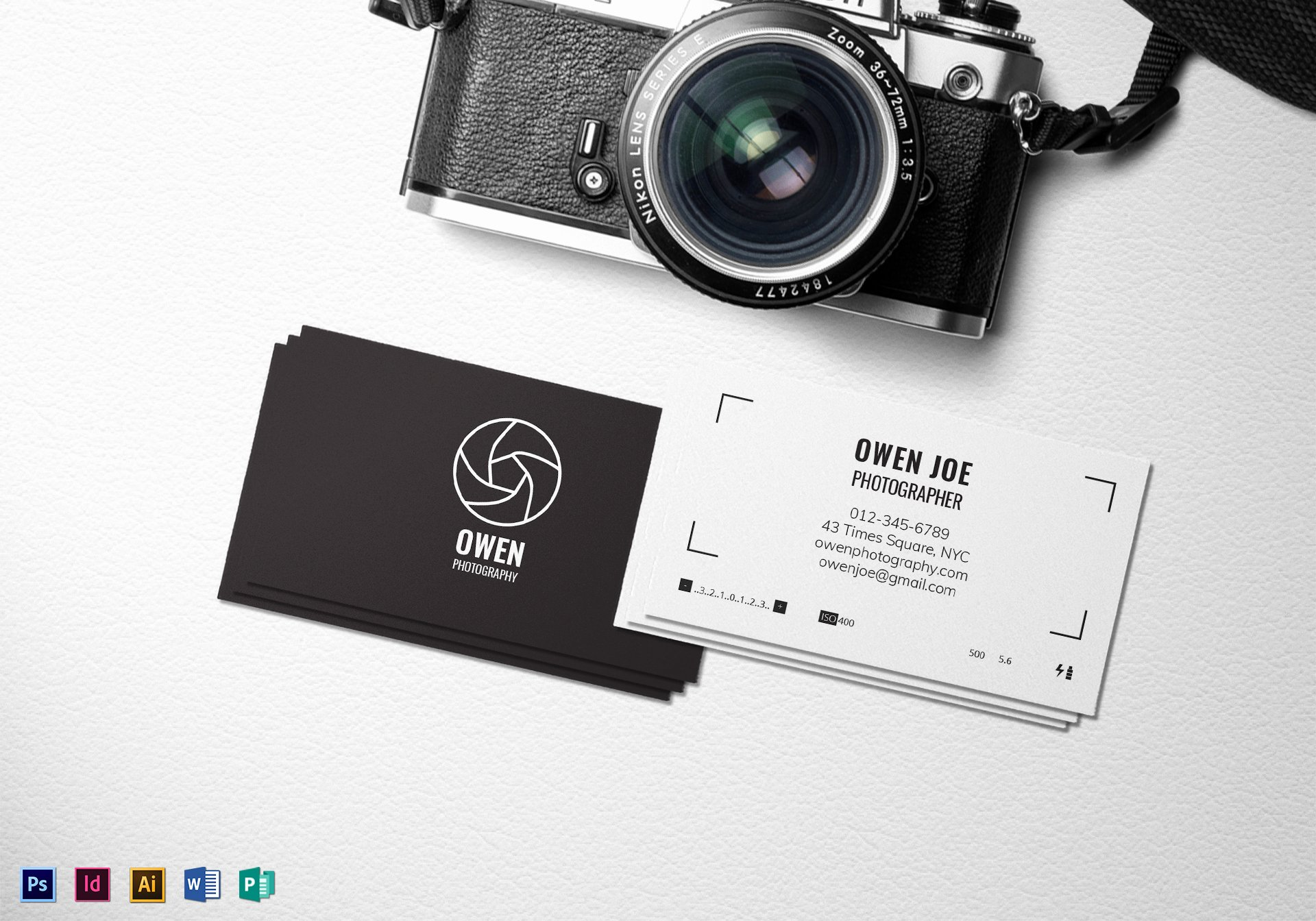 Professional Photography Business Cards Fresh Grapher Lens Business Card Template In Psd Word Publisher Illustrator Indesign