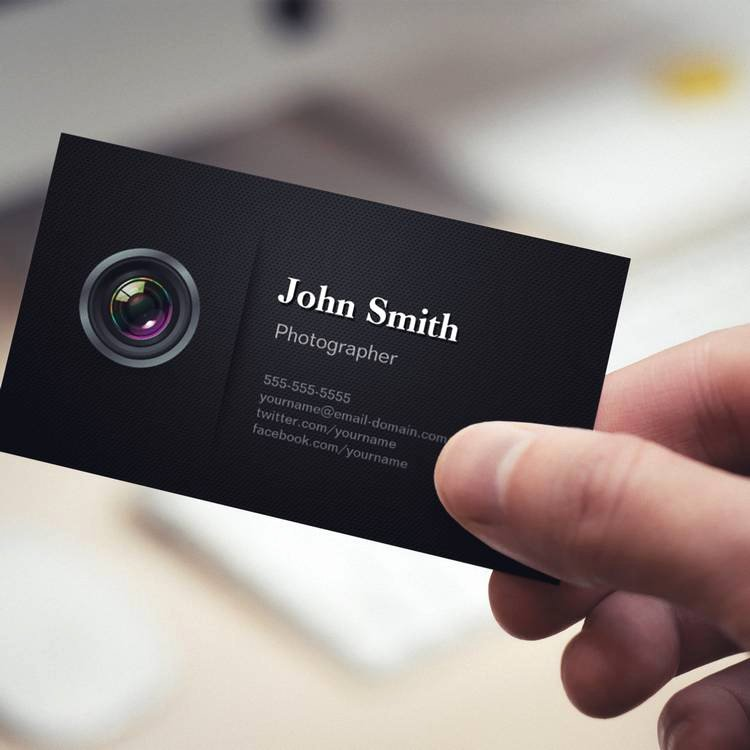 Professional Photography Business Cards Fresh Professional Plain Black Camera Grapher Business Card