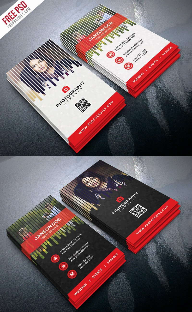 Professional Photography Business Cards Lovely Professional Grapher Business Card Psd Bundle