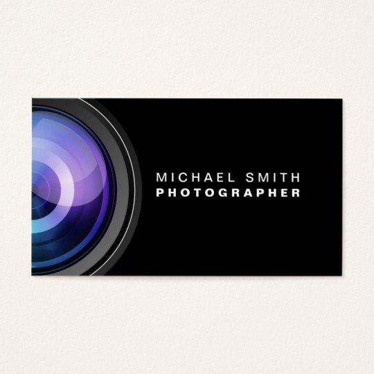 Professional Photography Business Cards Unique Grapher Graphy Camera Lens Professional Business Card